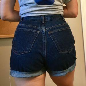 High-waisted Classic Denim Shorts